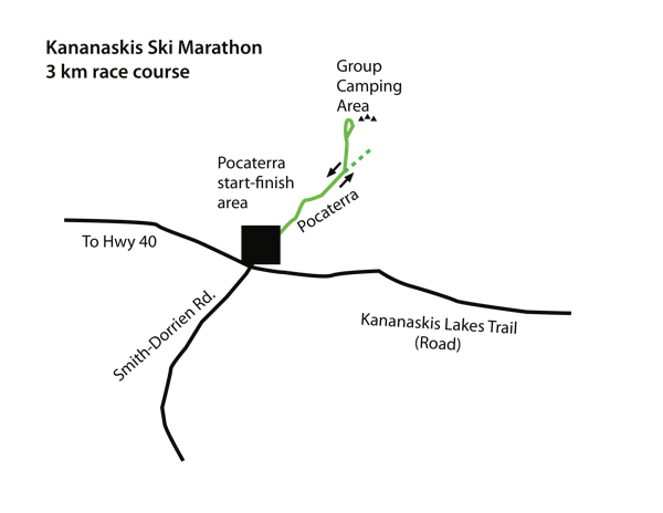map of 3km race
