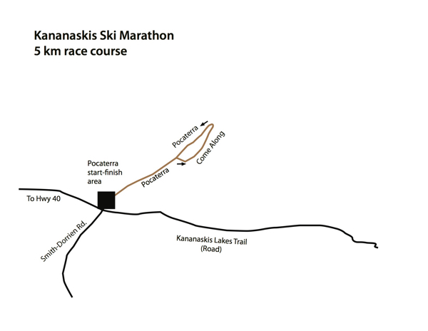 map of 5km race